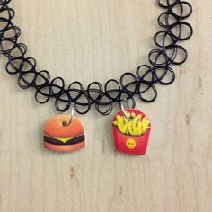 BACKORDERED Emoji Tattoo Choker / Charm Tattoo by WeekendCloset