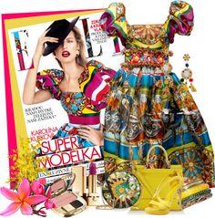 """Dolce & Gabbana"" by flowerchild805 ❤ liked on Polyvore"