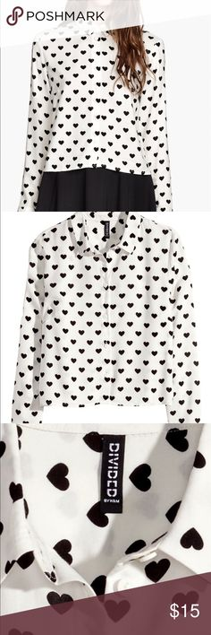 🎃🍁h&m heart shirt h&m heart button up shirt. Perfect for a cute minnie mouse look! H&M Tops