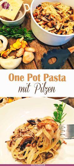 Die One Pot Pasta ist nicht mehr wegzudenken. So einfach die Zubereitung ist, so lecker schmeckt sie. Unser Rezept mit leckeren Herbst Pilzen ist in 15 Minuten servierbereit. Eine vegetarische Variante einer One Pot Pasta.