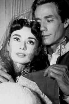 Audrey Hepburn & Mel Ferrer in their telemovie 'Mayerling', 1957.