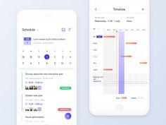 Schedule designed by Annie_Qiao for New Beee. Ios App Design, Mobile Ui Design, Interface Design, Work Schedule App, Schedule Design, Calendar App, Calendar Design, Ui Design Inspiration, Website Layout
