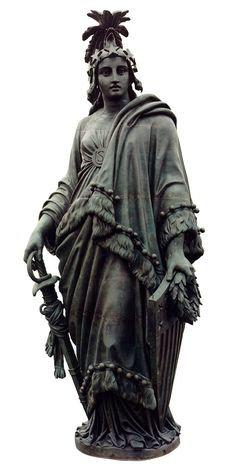 The Statue of Freedom—also known as Armed Freedom or simply Freedom—is a bronze statue designed by Thomas Crawford that, since 1863, has crowned the dome of the U.S. Capitol in Washington, D.C.