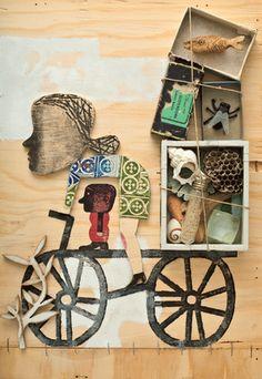 Libros del Zorro Rojo | Jóvenes & Adultos: Los sueños de Helena Collages, 3d Collage, Mixed Media Collage, Art And Illustration, Graphic Design Illustration, Poesia Visual, Multimedia Arts, Sculpture Projects, Doodles
