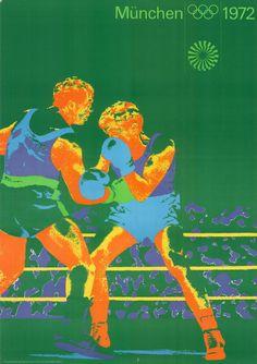 Olympische Spiele 1972 München DIN A0 Motiv Boxen OLYMPIADE Otl Aicher