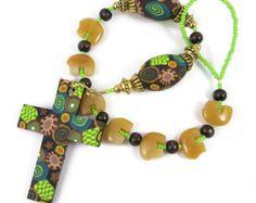 Catholic One Decade Rosary Chaplet Tenner Handmade Focal Bead