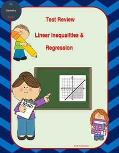 Students will review learned concepts of graphing equations, intro to inequalities, graphing inequalities, inequality applications, using scatter plots to predict data, & linear regression.  This review will give students an idea of what concepts they have mastered and what areas they need additional help on to achieve mastery.