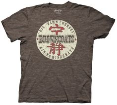Firefly TV Series Mal Reynolds I AIM TO MISBEHAVE Heather T-Shirt All Sizes