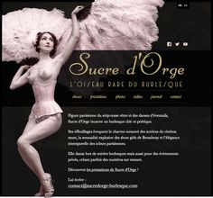 Sucre d'Orge, burlesque performer, has a brand new website. It is available in English and French, is fully responsive and has some pretty pictures and videos. Designed by Marie Guillaumet. #webdesign #responsive #rwd #burlesque