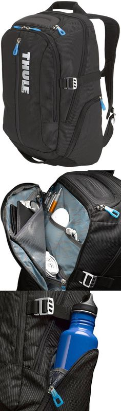 Durable Thule backpack that evenly distributes contents for a really comfortable fit! Has assorted accessory pockets for laptops, headphones, sunglasses and more.