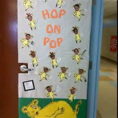 Dr Seuss hop on pop decorations Classroom Door, Classroom Themes, Preschool Classroom, Future Classroom, Hop On Pop, Dr Seuss Crafts, Dr Seuss Activities, Dr Seuss Week, E Mc2