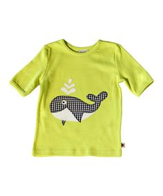 Look what I found on #zulily! Green & Blue Gingham Whale Tee - Infant & Toddler by Sam and Sydney #zulilyfinds