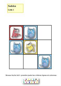 La couleur des émotions : Sudoku (2 niveaux) – MC en maternelle