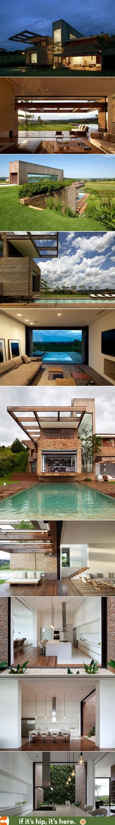 This incredible modern home and pool by Arthur Casas sits on a golf course in Sao Paolo.   http://www.ifitshipitshere.com/the-mp-quinta-da-baronesa/