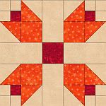 Pieced Tulips Quilt Blocks