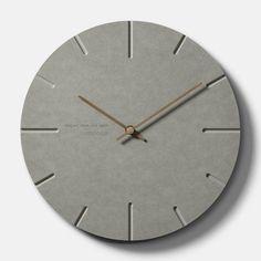 Cement Art, Concrete Art, Concrete Design, Concrete Crafts, Concrete Projects, Wall Clock Design, Clock Wall, Living Room Prints, Modern Clock
