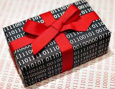 binary code wrapping paper- I SO wish I could find this fast for my son who has Autism and LOVES binary!