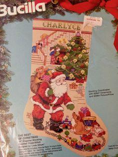 CROSS STITCH STOCKING KIT ~ Bucilla THE BEST OF CHRISTMAS 82915 Gillum Sealed  #Bucilla #CrossStitch