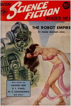 cowsinartclass72:  Avon Science Fiction Reader No.31952Cover art by Earle Bergey