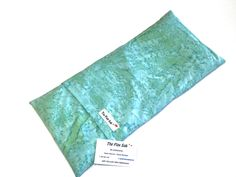 """FLAX HEATING PAD, Microwavable Removable/Washable Hot/Cold pack Large over 3 lbs mint Batik Cotton cover- Therapeutic, """"The FLaX SaK"""""""