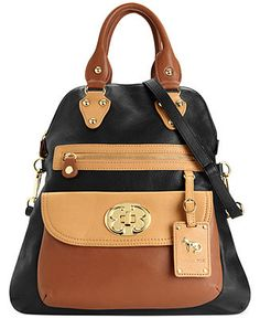 Emma Fox Classics Leather Large Foldover Tote Handbags Accessories Macy S