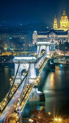 Budapest, Hungary, cities at night Places Around The World, Travel Around The World, Around The Worlds, Places To Travel, Places To See, Capital Of Hungary, Budapest Travel, Night Photos, Nature Photos