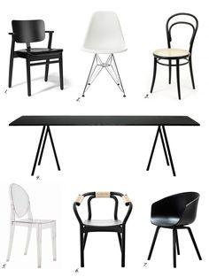 Chairs: http://divaaniblogit.fi/charandthecity/2014/01/08/ruokapoydantuoli-projekti/
