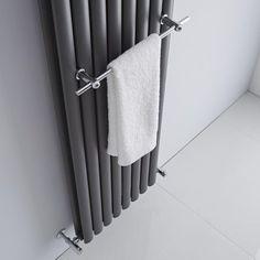 Enjoy the basic luxury of warm, dry towels with the Milano chrome designer radiator towel rail