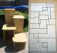 Make a self-standing staircase from a single sheet ofplywood