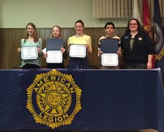 Eleven middle and high school students received awards on February 18 in the annual American Legion Essay Contest sponsored by the Robert E Coulter, Jr, Post and Auxiliary in La Grange.
