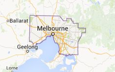 Map of victoria melbourne