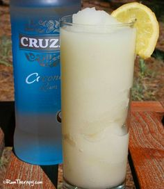 Hot outside? This Coconut Lime Freeze (with coconut rum) is sure to cool you off! Click here for the recipe!