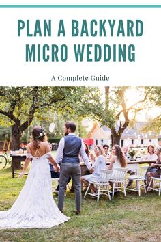 A complete guide on how to plan the perfect backyard micro wedding. Tips and tricks on how to throw a amazing micro wedding in your own backyard. Whether it's big or small, we'll help you get there! Wedding Reception Program, Wedding Table Setup, Small Wedding Receptions, Ceremony Programs, Very Small Wedding, Planning A Small Wedding, Small Weddings, Small Intimate Wedding, Yard Wedding