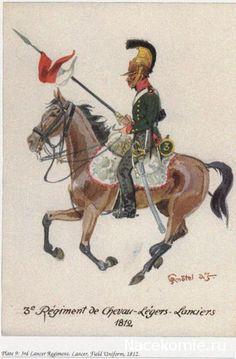 3rd Lancer Regiment Field uniform 1812 3e Régiment de Chevau-légers lanciers 1812