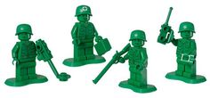 Lego Army Men: Finally, we can create fun little lego toy armies