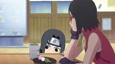 Haha  Sarada doesn't eat her Dango, so uncle Itachi will take them ❤️❤️❤️