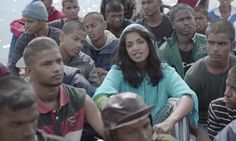 Rap artist MIA,# releases self-directed video for new track Borders that follows refugees on hazardous journey to Europe, as lyrics chastise governments' failure to act