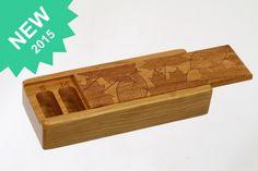 Leaves Laser Engraved, Vitamin/Medication Box, Weekly Organizer, Maple Leaves and Cherry Leaves, Pattern 13, Paul Szewc http://etsy.me/20mgDVE