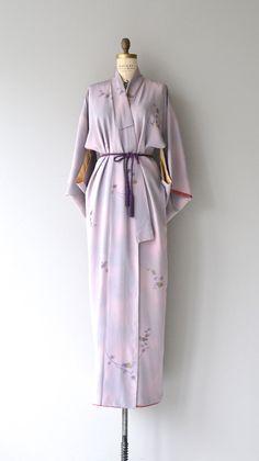 Hanakotoba kimono vintage floral print silk kimono by DearGolden