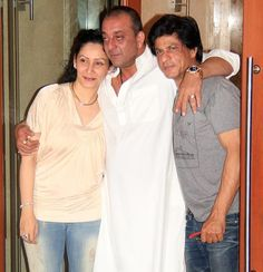 MANYATA DUTT WITH SANJAY DUTT AND SHARUKH KHAN.