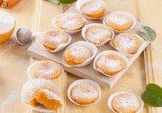 Queijadas de cenoura Finger Food Desserts, Cookie Desserts, Finger Foods, Dessert Recipes, Mini Cupcakes, Cupcake Cakes, Portuguese Recipes, Delish, Deserts