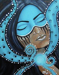 Throat Chakra Wall Art - Painting - Channeling by Echoes From The North Chakra Painting, Chakra Art, Magical Pictures, Astrology Numerology, Throat Chakra, Art Pages, Black Art, Fine Art America, Oil On Canvas