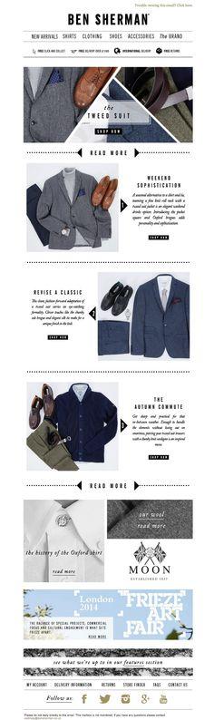 #newsletter Ben Sherman 10.2014 Shop the tweed look