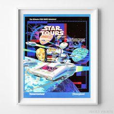"Disneyland StarWars Weekend AT Star Tours 8.5/"" x 11/"" Poster AT Snow Walker"