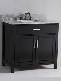 Custom Bathroom Vanities Newmarket allen + roth hagen espresso undermount single sink birch/poplar