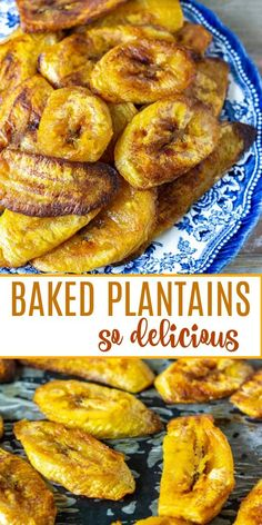 These juicy baked plantains are a delight they are sweet melt in your mouth and healthy. Baked in the oven compared to traditional frying this is comfort food at its best served as a side dessert or snack. Jamaican Recipes, Cuban Recipes, Vegetarian Recipes, Cooking Recipes, Healthy Recipes, How To Cook Plantains, Comida Latina, Caribbean Recipes, Deserts