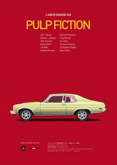 Pulp Fiction poster by Jesús Prudencio. Cars And Films