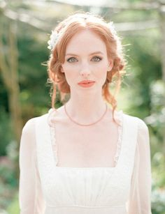 Jane+Austen+Hairstyles | Jane Austen wedding inspiration via Wedding Sparrow blog