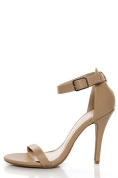 36919f2c47db The Anne Michelle Enzo 01 Nude Ankle Strap Heels keep it simple in matte  nude vegan leather. High Heels Womens Fashion