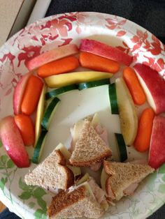 Rainbow snack  http://motherscircle.net/healthy-snacks-for-kids/